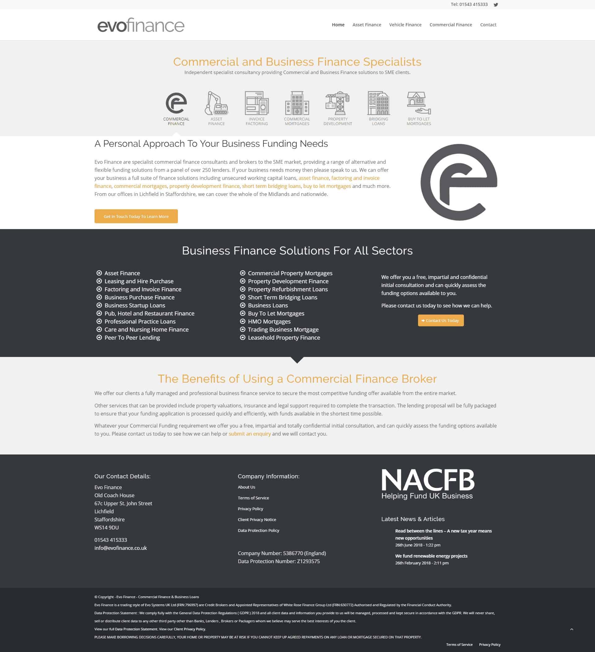 Evo Finance Website