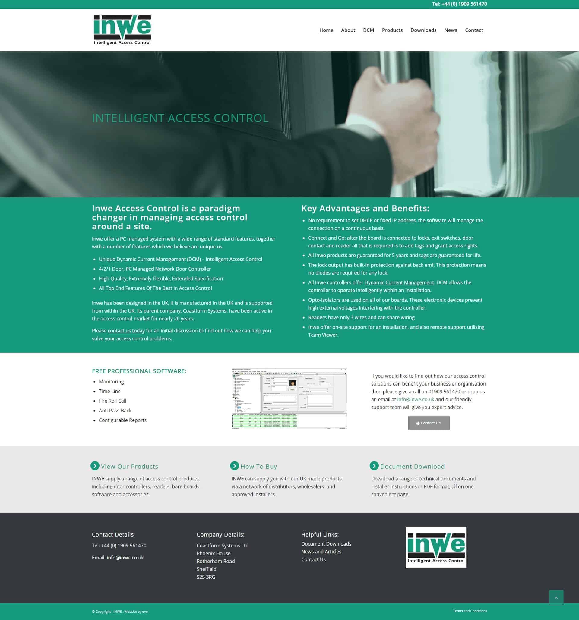 INWE Access Control Website