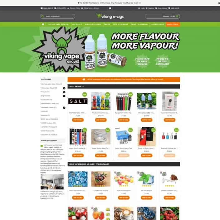 Viking Ecigs Website