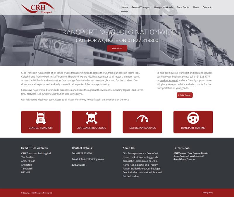 CRH Transport Website Design