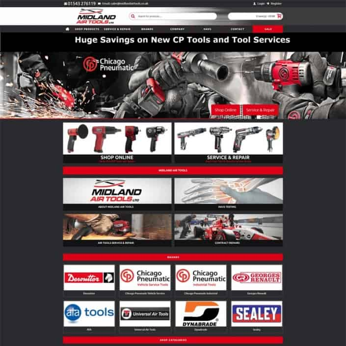 Midland Air Tools Website